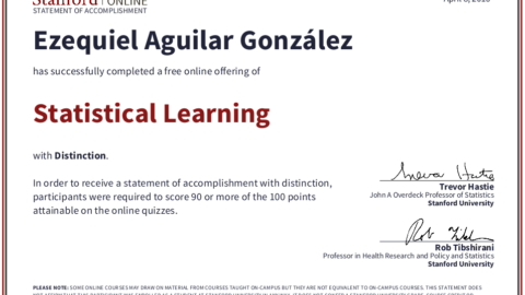 Stanford – Statistical Learning