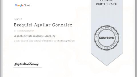 Google Cloud – Launching Into Machine Learning