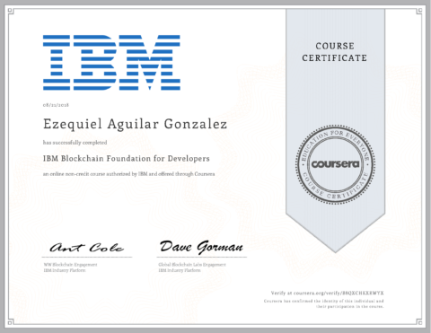 IBM – Blockchain Foundation for Developers